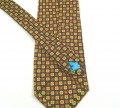 Floral silk tie self-tipped